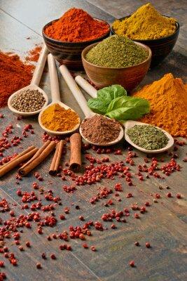 Фотообои Разнообразие специй на кухонный стол