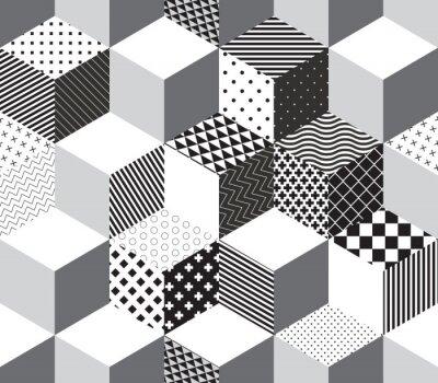 Фотообои Вектор 3d кубов шаблон