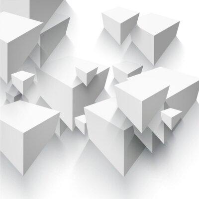 Фотообои Вектор Абстрактный геометрическая форма от серых кубов.