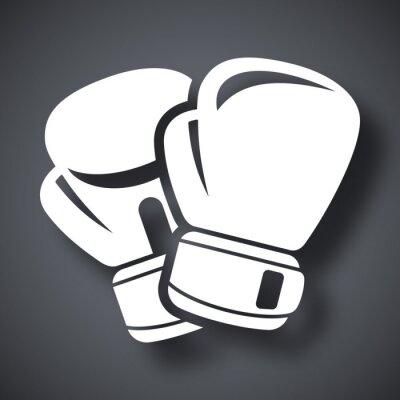 Фотообои Vector boxing gloves icon