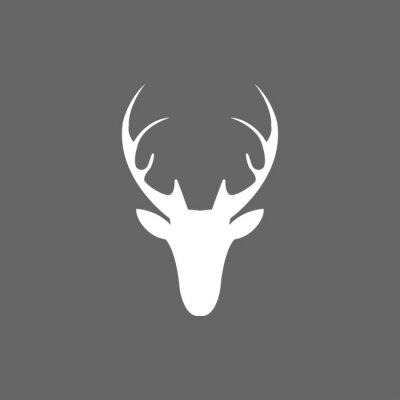 Фотообои Векторные рождественские значок голова оленя