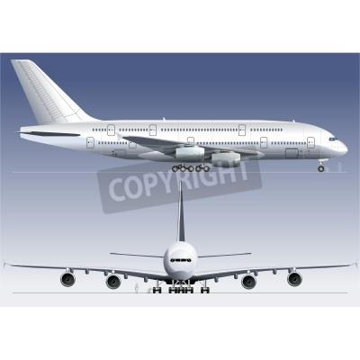 Фотообои Вектор двухэтажных A380 авиалайнера Lagest