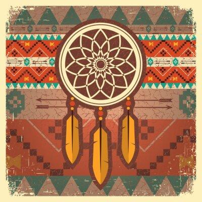 Фотообои Вектор мечта зрелище плакат с этническим орнаментом