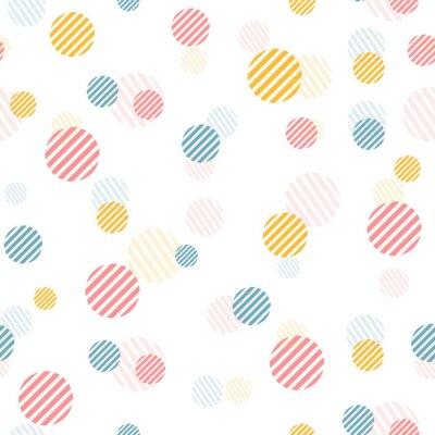 Фотообои Вектор нежный старинные бесшовные узор с разноцветными точками.