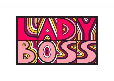 Фотообои Векторная рисованная надпись «Леди Босс». Понятие плакатов, открыток, наклеек.