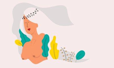 Фотообои Vector illustration of a beautiful naked woman.