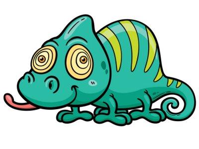 Фотообои Векторная иллюстрация Cartoon Chameleon
