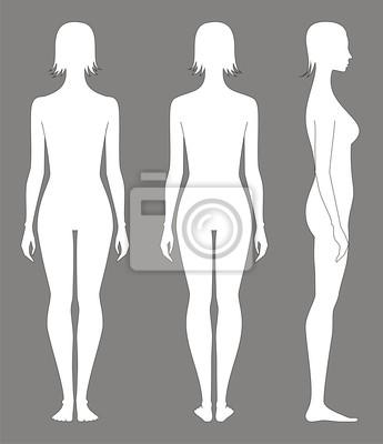 силуэт голой женшинф с боку фото