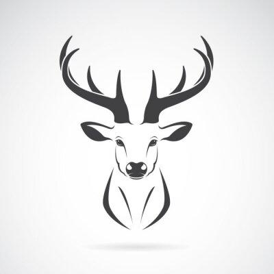 Фотообои Вектор образ конструкции голова оленя на белом фоне