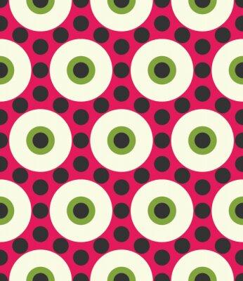 Фотообои Вектор современные бесшовные модели красочные геометрии круг, цвет абстрактных геометрических фон, разноцветные подушки печати, ретро текстуры, дизайн моды битник