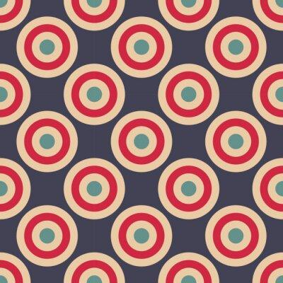 Фотообои Вектор современные бесшовные красочные картины геометрические круги, цвет абстрактных геометрических фон, разноцветные подушки печати, ретро текстуры, дизайн моды битник