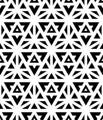 Фотообои Вектор Современные бесшовные модели сакральной геометрии, черный и белый текстиль для печати, абстрактные текстуры, дизайн монохромный моды