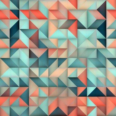 Фотообои Вектор бесшовные Синий Розовый Градиент Треугольник Нерегулярное Сетка квадратный узор