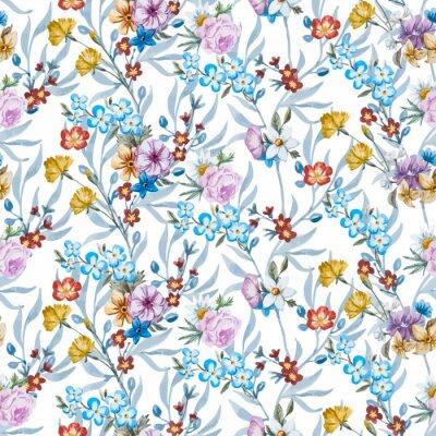 Фотообои Вектор акварель цветочным узором
