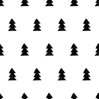 Фотообои Вектор Рождество фон с рождественское дерево. Скандинавский стиль.