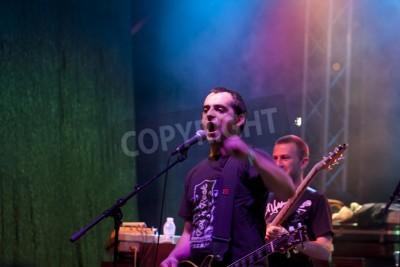 Фотообои Велико Тырново, Болгария - 2 июня: Metallica дань группа выполняет шоу в Motorock фестиваля Велико Тырново 2012, 2 июня 2012 года в г. Велико Тырново, Болгария.