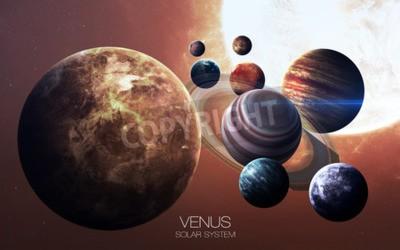 Фотообои Венера - Высокое разрешение изображения представляет планеты солнечной системы.
