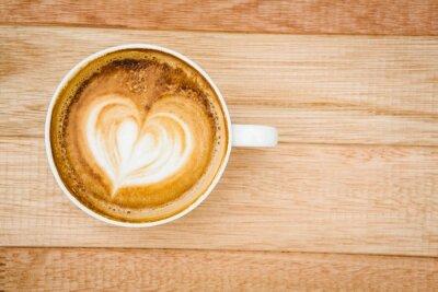 Фотообои Вид сердце состоит из кофе