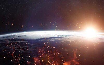Фотообои Вид Земли из космоса. Элементы этого изображения, предоставленную NASA