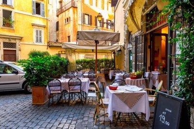 Фотообои Вид старой уютной улице в Риме, Италия