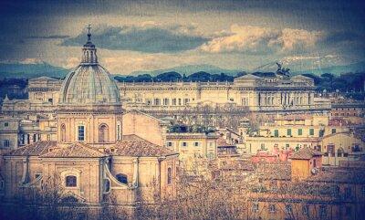 Фотообои Вид Рима. Ретро тонированное фото