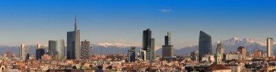 Фотообои Просмотров Милана с Альп в фоновом режиме