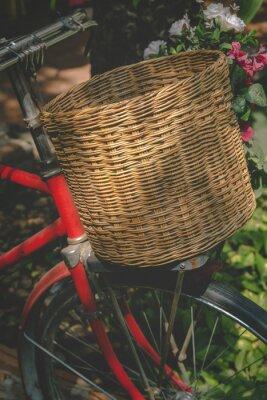 Фотообои Урожай велосипед с корзиной