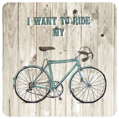 Фотообои Vintage велосипеде рисованной плакаты