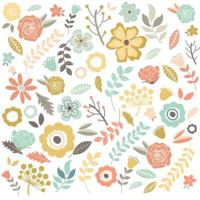 Фотообои Урожай рисованной цветы фона
