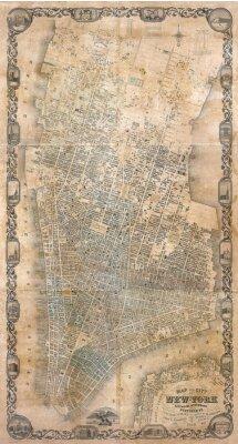 Фотообои Урожай карта Нью-Йорк