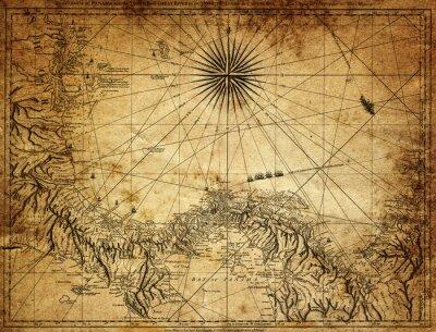 Фотообои марочные карта Панамы