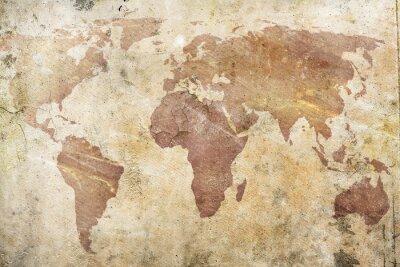 Фотообои старинные карты мира