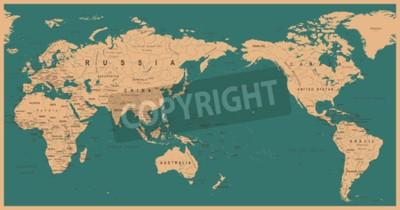 Фотообои Урожай политическая карта мира Тихоокеанский центр - вектор