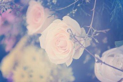 Фотообои Урожай розы букет мягкий фон