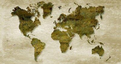 Фотообои Vintage sepia world map background