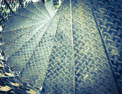 Фотообои Vintage tone spiral iron staircase background