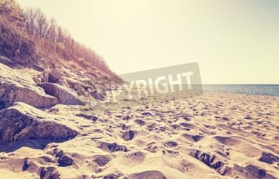 Фотообои Урожай тонированное изображение пляж на закате.