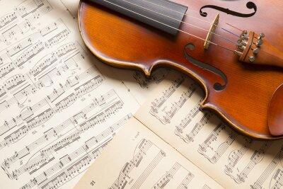 Фотообои Урожай скрипка на нотах.