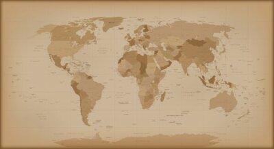 Фотообои Урожай карта мира