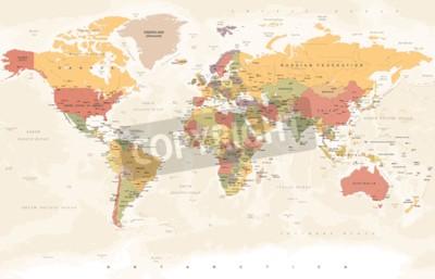 Фотообои Старинная карта мира - подробные векторные иллюстрации
