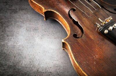 Фотообои Violin music instrument of orchestra closeup