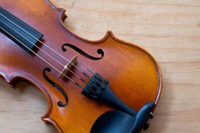 Фотообои Скрипка на деревянный стол