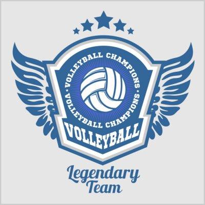 Фотообои Волейбол Чемпионат логотип с мячом. Вектор спорта значок для турнира или чемпионата