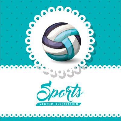 Фотообои дизайн волейбольная лига