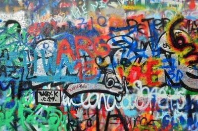 Фотообои стена распыляется с граффити