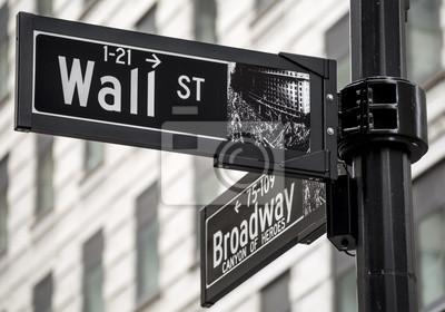 Фотообои Уолл-стрит знак в городе Нью-Йорк, США.