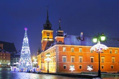 Фотообои Варшава, Замковая площадь в рождественские праздники