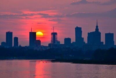 Фотообои Warsaw Downtown sunset