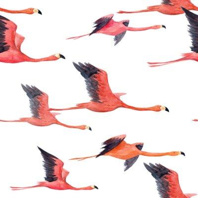 Фотообои Акварельный фламинго