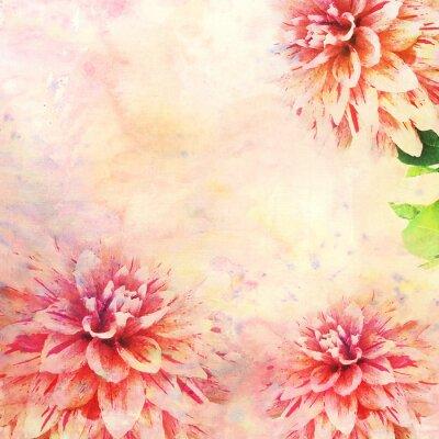 Фотообои Акварель иллюстрация цветочной темы